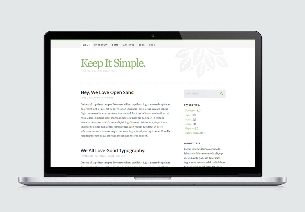 Keep It Simple High Quality Free Website Template By